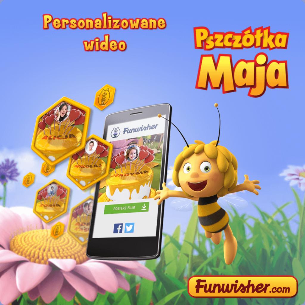 Pszczółka Maja - życzenia urodzinowe dla dzieci