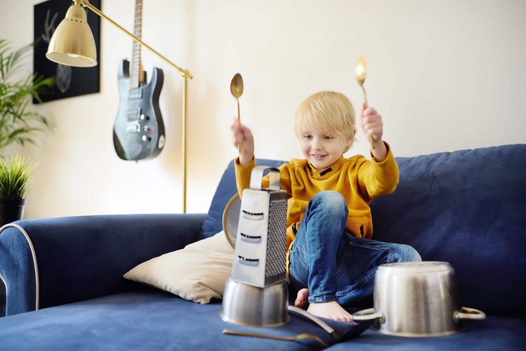 zabawy dla dzieci na urodziny - garnki i bębenki