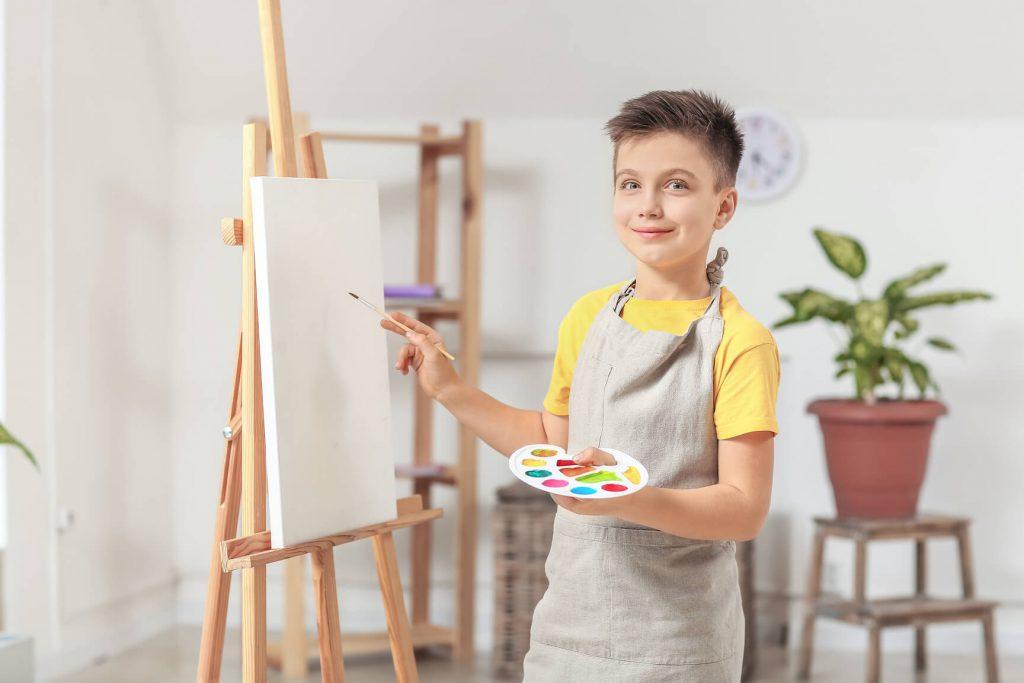 zabawy urodzinowe dla dzieci - malowanie portretów